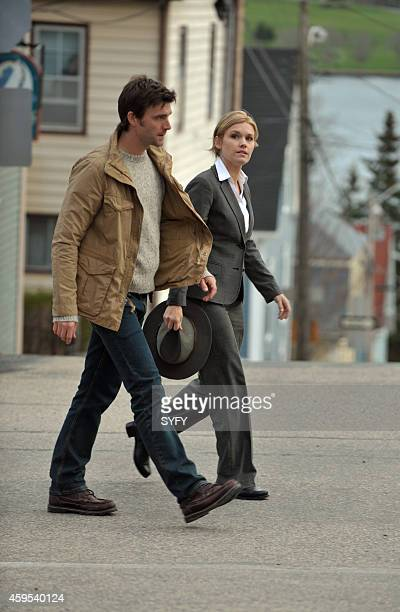 HAVEN 'Welcome to Haven' Pictured Lucas Bryant as Nathan Wuomos Emily Rose as Audrey Parker Photo by Chris Reardon/Syfy