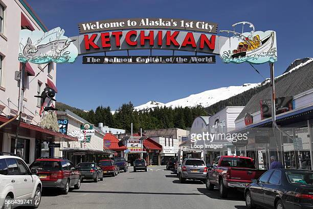 Welcome to Ketchikan sign in Alaska