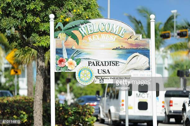 Welcome to Key West Paradise USA sign