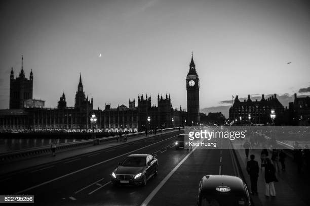 Welcome to London -black and white