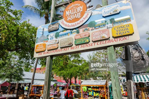 Welcome to Mallory Square sign