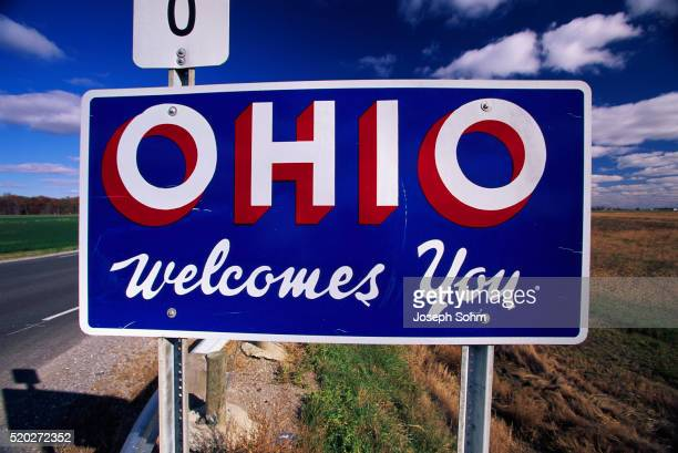 welcome to ohio road sign - ohio stock pictures, royalty-free photos & images