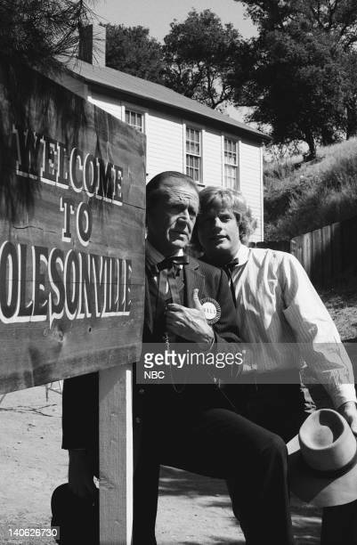 PRAIRIE Welcome to Olesonville Episode 3 Aired 10/11/82 Pictured Richard Bull as Nelson 'Nels' Oleson Dean Butler as Almanzo James Wilder Photo by...