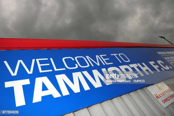 Welcome to Tamworth FC signage at The Lamb Ground