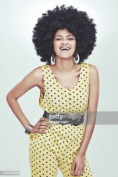 welcome to the 70s! - african american 70s fashion stock photos and pictures