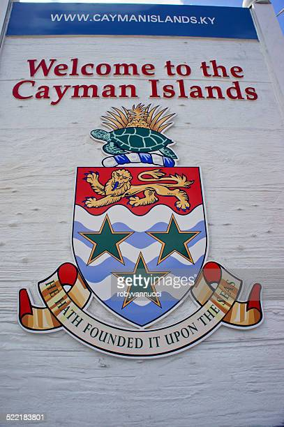Welcome to the Cayman Islands; coat of arms and motto