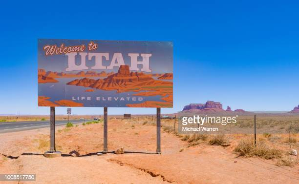 welcome to utah - sandy utah stock pictures, royalty-free photos & images
