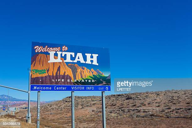 welcome to utah - st. george utah stock pictures, royalty-free photos & images