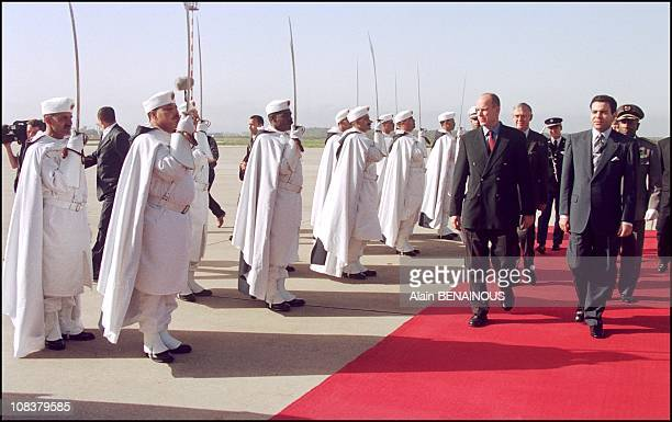 Welcomed by the King's brother Rachid Moulay in Rabat Morocco on March 11 2001