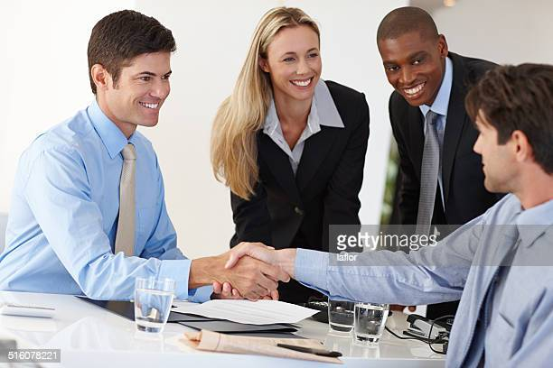 Welcoming a business partner