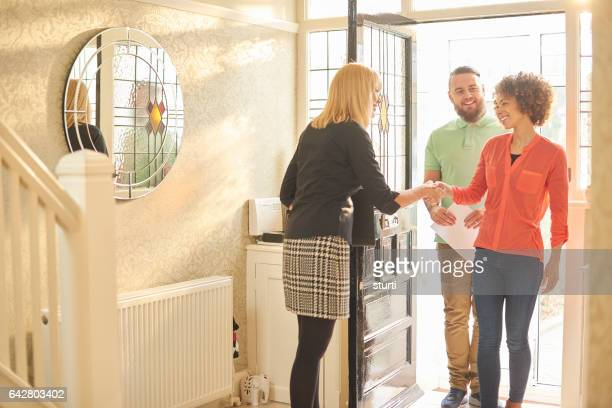 welcoming to your new home - house rental stock photos and pictures