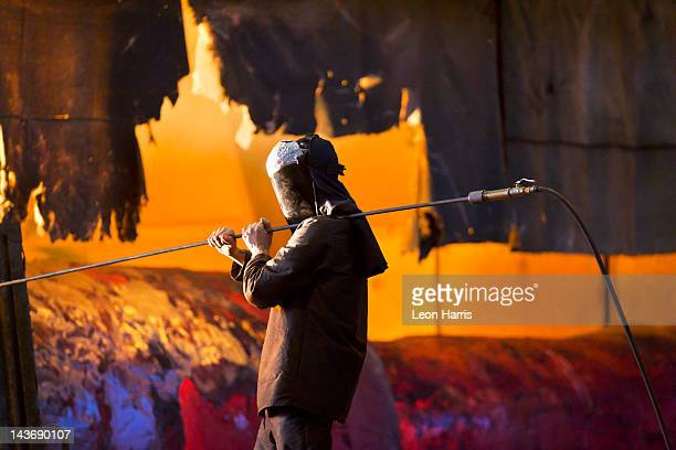 welder at work in steel forge - sheffield stock pictures, royalty-free photos & images
