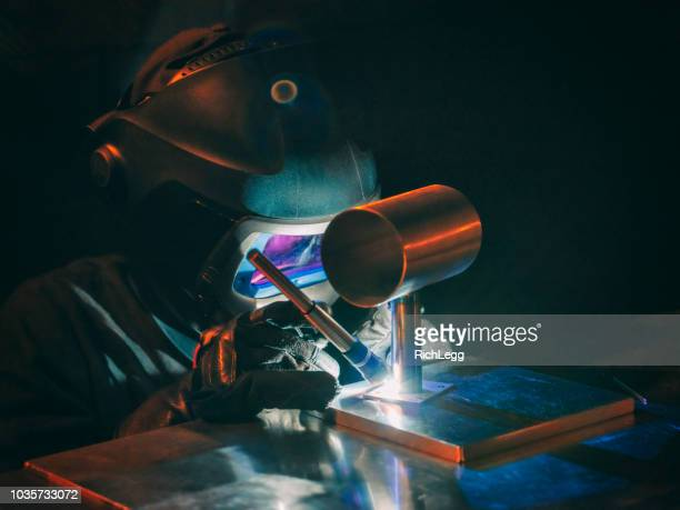 TIG Welder at Work