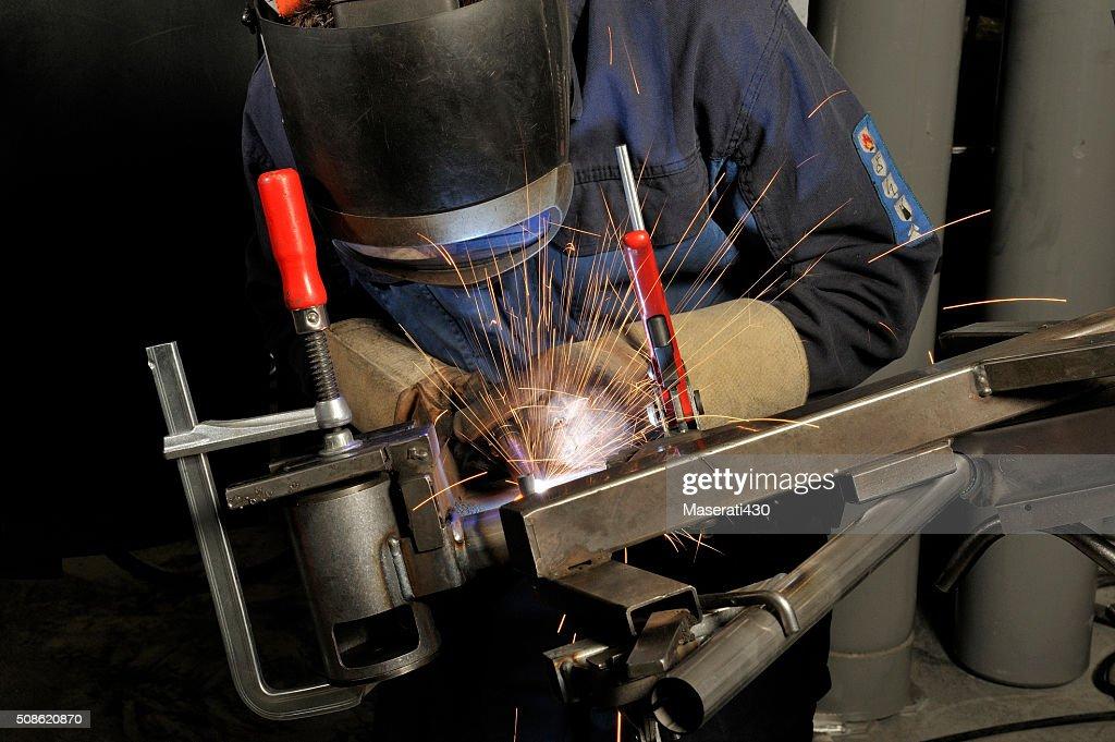 Welder at work : Stock Photo