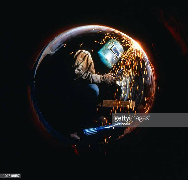 Welder in Pipe