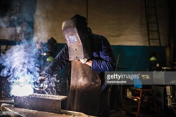 welder on a workshop
