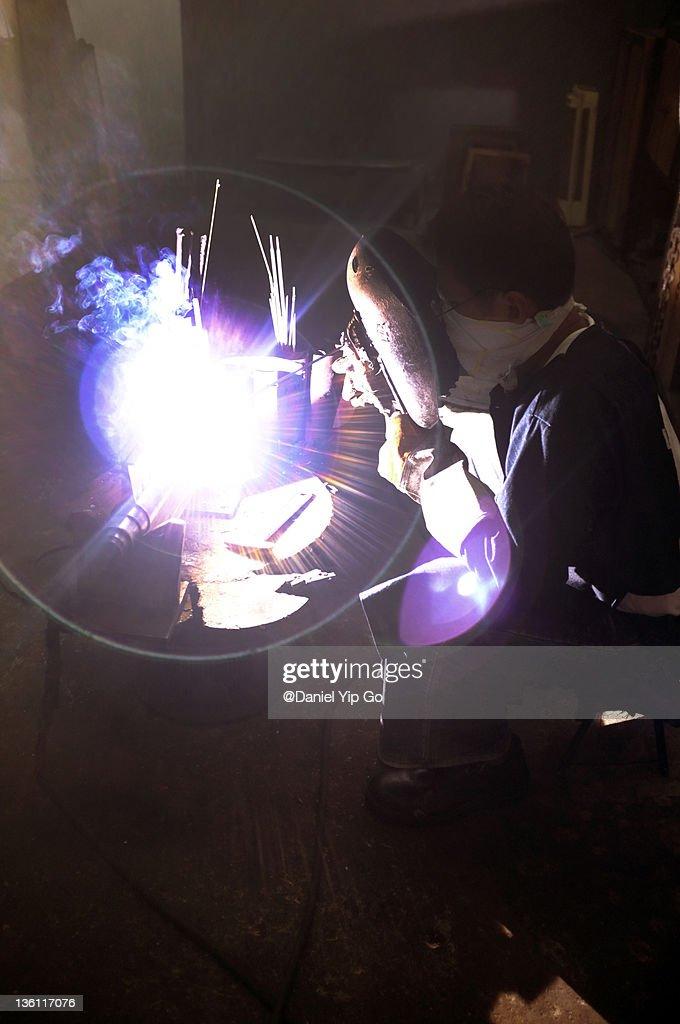 Welding flare : Bildbanksbilder