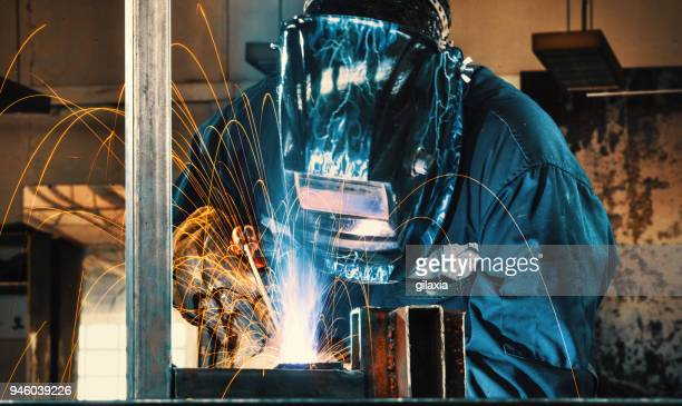 welding process. - welding stock photos and pictures