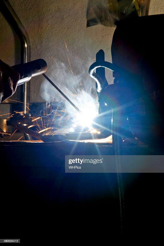 Welding ray lights : Stock Photo