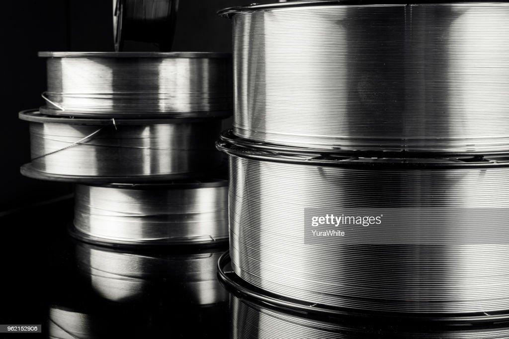 arame de solda, aço inoxidável : Foto de stock