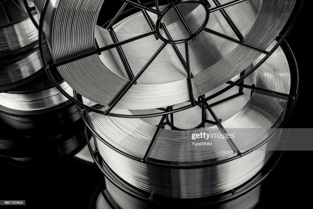 welding wire, stainless steel : Foto de stock
