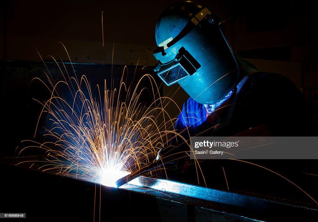 Welding worker : Stock Photo