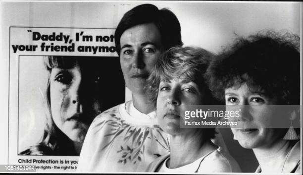 Welfare workers at Bankstownleft to right Margot Butt Adrienne Shilling and Viv Olsen May 1 1986