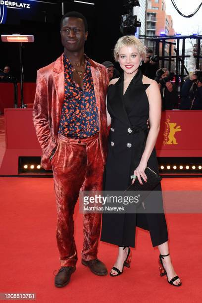"""Welket Bungue and Jella Haase pose at the """"Berlin Alexanderplatz"""" premiere during the 70th Berlinale International Film Festival Berlin at Berlinale..."""