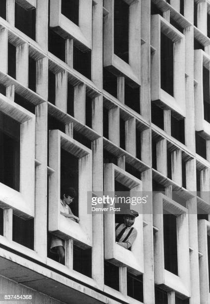 JUN 15 1972 JUN 16 1972 well as in front of building to fight the fire that took three hours to control Crowds gathered on the street while the two...