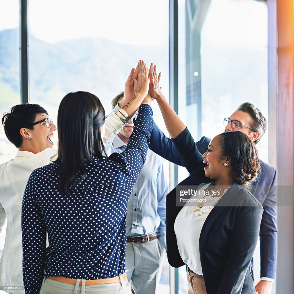 Well done team : Stock Photo