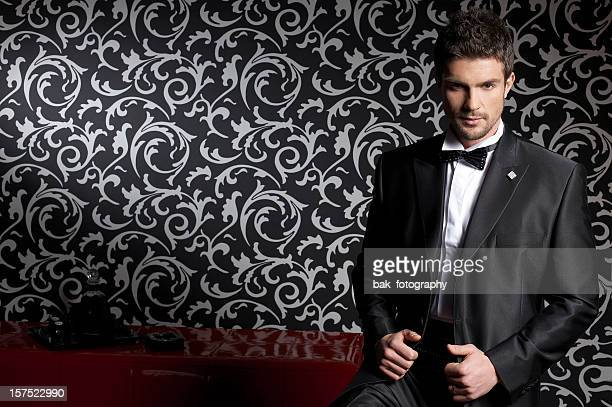 Well dressed businessman modeling men's fashion line
