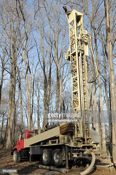 well drilling truck - drill stock pictures, royalty-free photos & images