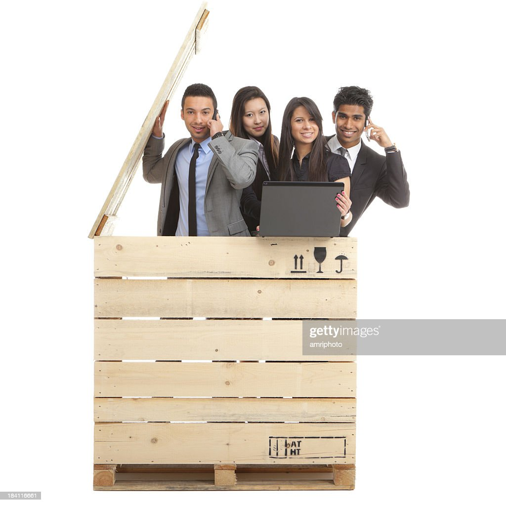 well educated young multiculti generation : Stock Photo