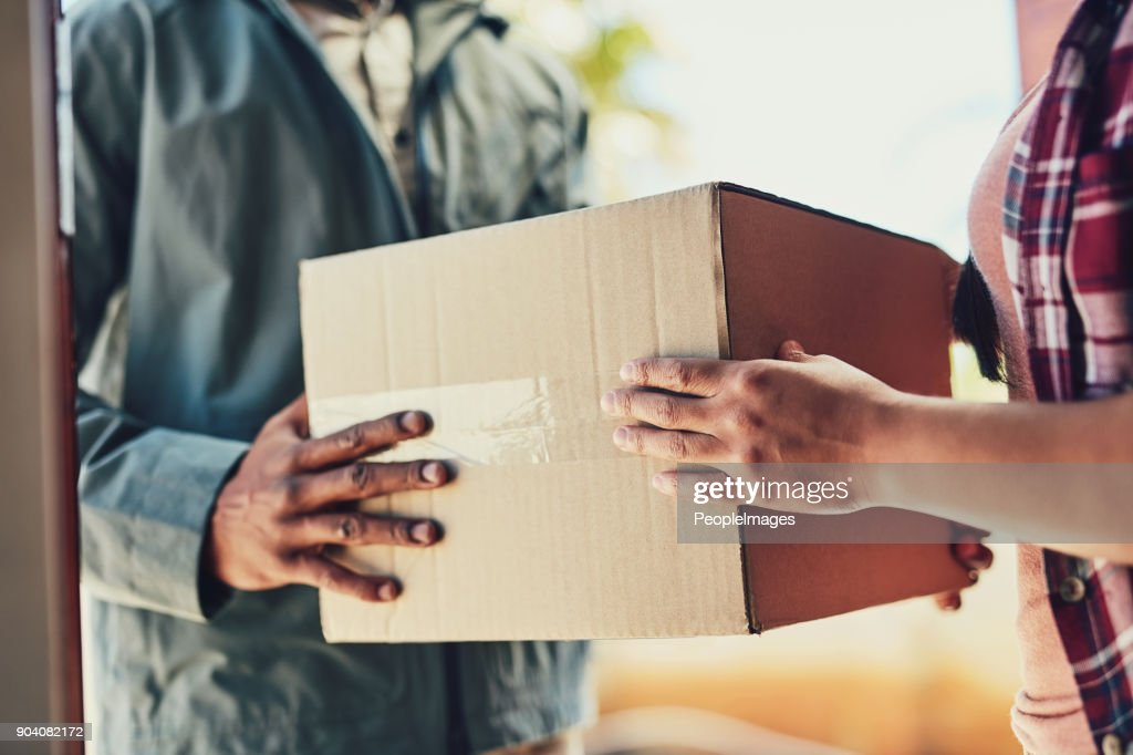 We'll ensure it gets to you with speed : Stock Photo
