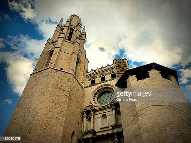 CONTENT] Well known gothic architectural religious landmark in Girona city Catalonia Spain
