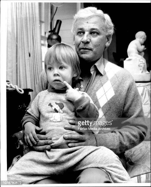 Well known Sydney racing identity George Freeman relaxing at his Yowie Bay home with his oldest son Adam two after the court threw out a charge of...