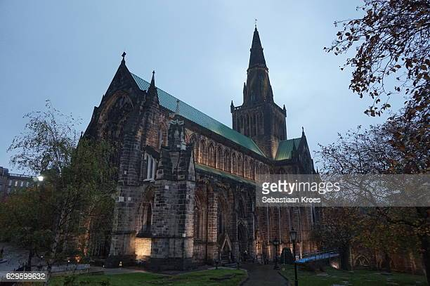 Well Lit Façade Cathedral, Glasgow, United Kingdom
