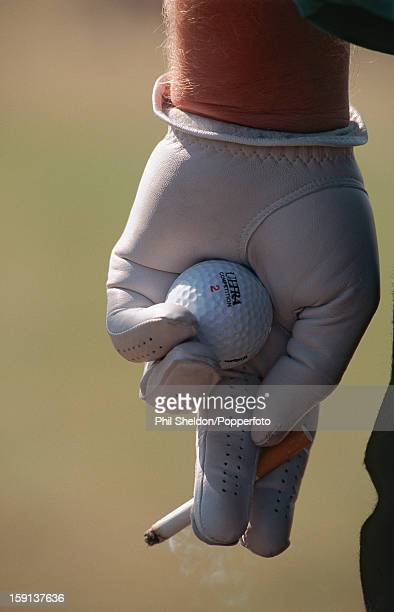 A well observed detail of American golfer John Daly during the British Open Championship at St Andrews in Scotland 1995