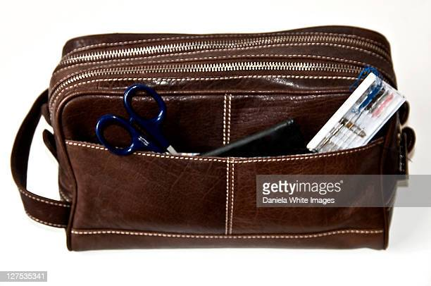 well organized male - toiletries stock pictures, royalty-free photos & images