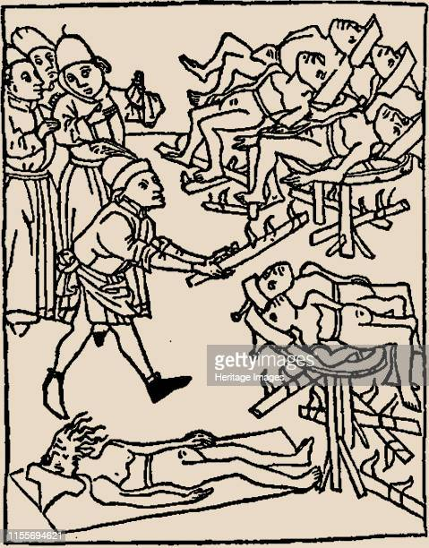 Torture of the Jews 1475 Private Collection Artist Anonymous