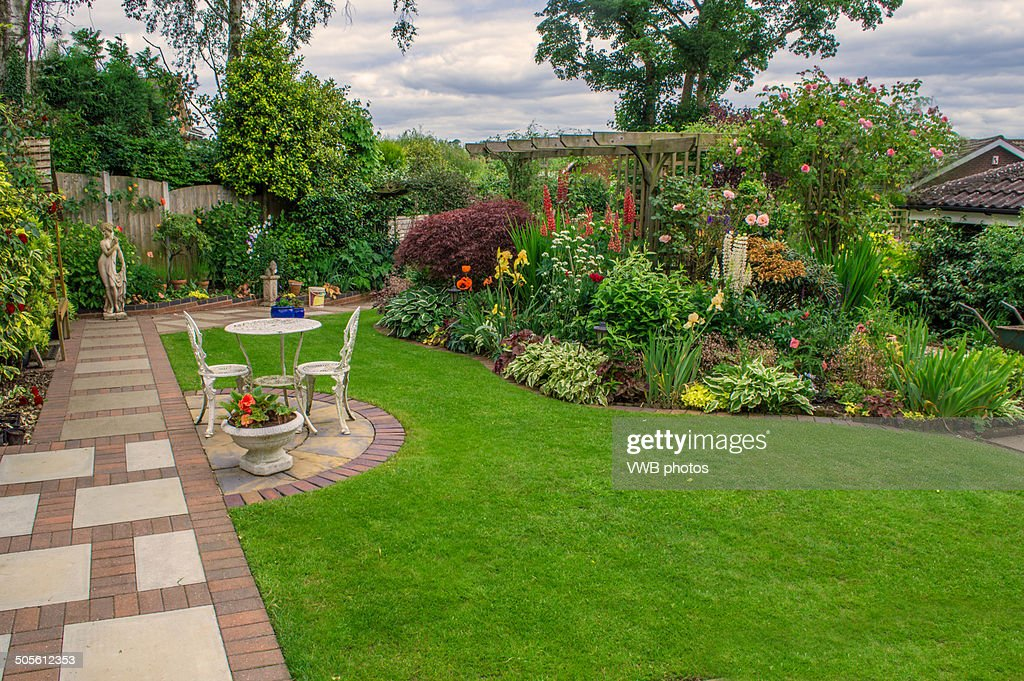 Well Tended Garden Staffordshire England High-Res Stock Photo - Getty Images