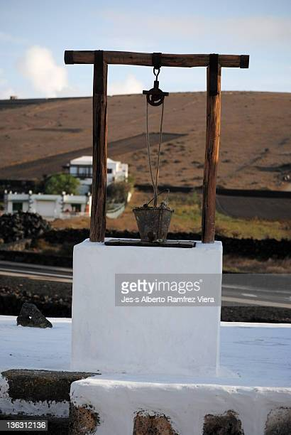 Well to draw water from a cistern in Lanzarote