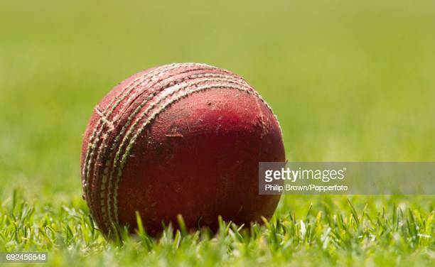 A well used cricket ball on the ground during a net session after Australia lost the 1st Test match to South Africa at Newlands ground in Cape Town...