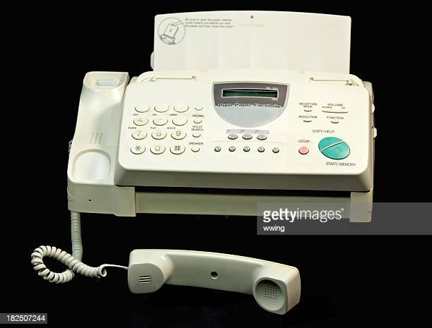 Well Used fax Machine on Black