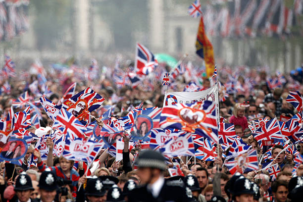 Royal Wedding - The Newlyweds Greet Wellwishers From The Buckingham Palace Balcony
