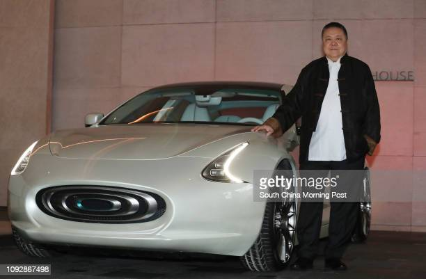 Wellen Sham Chairman Chief Executive Officer Thunder Power Holdings Limited poses with Thunder Power Sedan in Admiralty 30MAR17 SCMP/Nora Tam