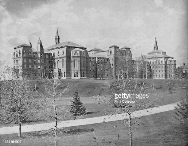 Wellesley College Wellesley Mass' circa 1897 A private women's liberal arts college in Wellesley Massachusetts Founded in 1870 by Henry and Pauline...