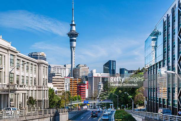 wellesley street east downtown auckland - auckland stock pictures, royalty-free photos & images