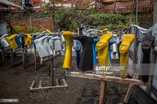 Wellies at an Ebola treatment centre in Goma DR Congo is currently experiencing the second worst Ebola outbreak in recorded history More than 1400...