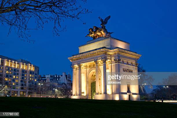 wellington arch - hyde park london stock pictures, royalty-free photos & images